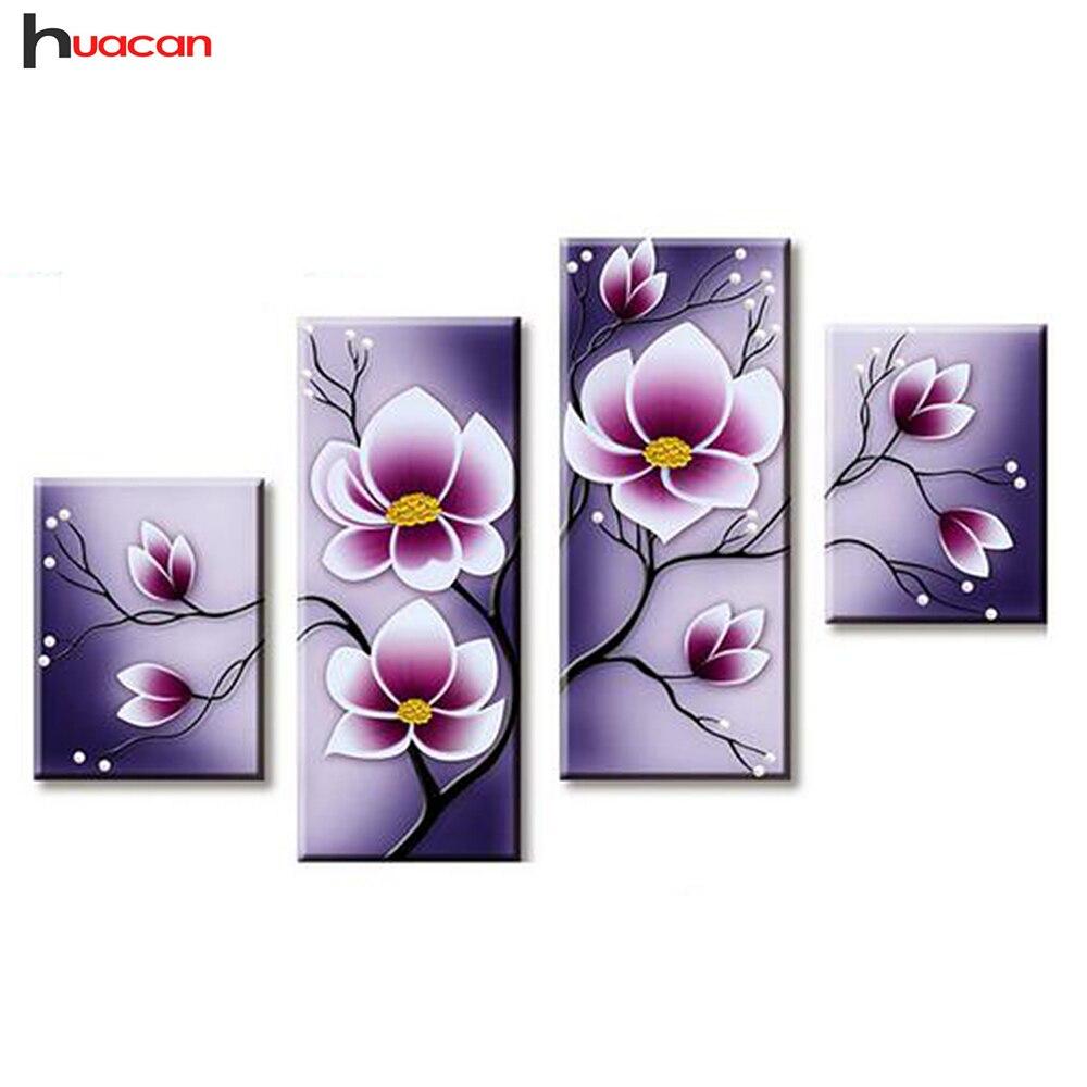HUACAN Orchidee Diamant Stickerei Mosaik Nadel DIY Blumen Diamant Malerei Muster rhines Festival Geschenk Multi-Bild F1744