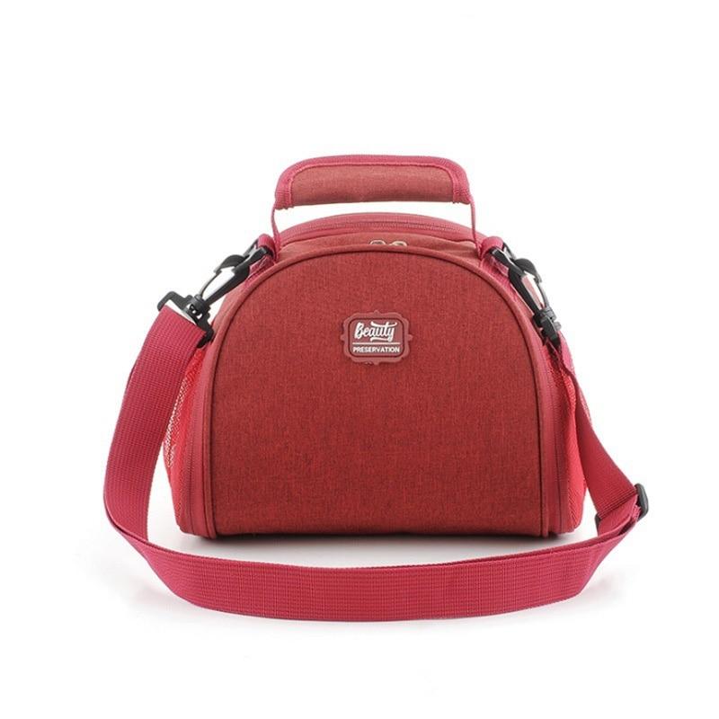 Bolsa de almuerzo aislante, bolsas térmicas para mantener el calor de los niños, bolsas de mano con correa para el hombro