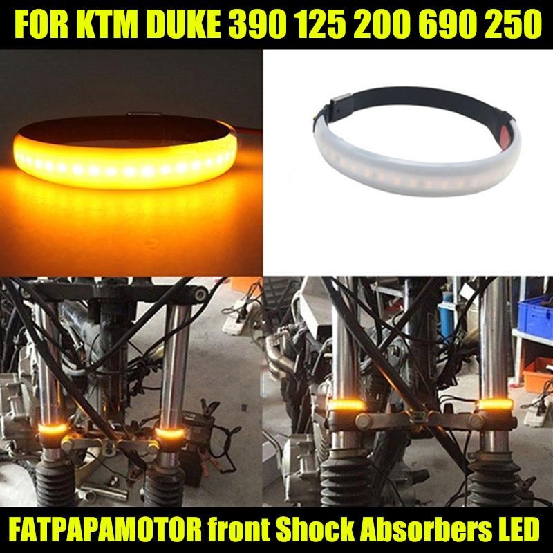 Accesorios de motocicleta Modificación de amortiguador LED luces de giro para KTM DUKE 390 125 200 690 250