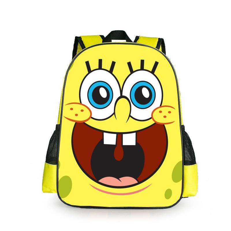 New Fashion SpongeBob SquarePants Girls Boys Cartoon Backpack Kids  School Bags For Children