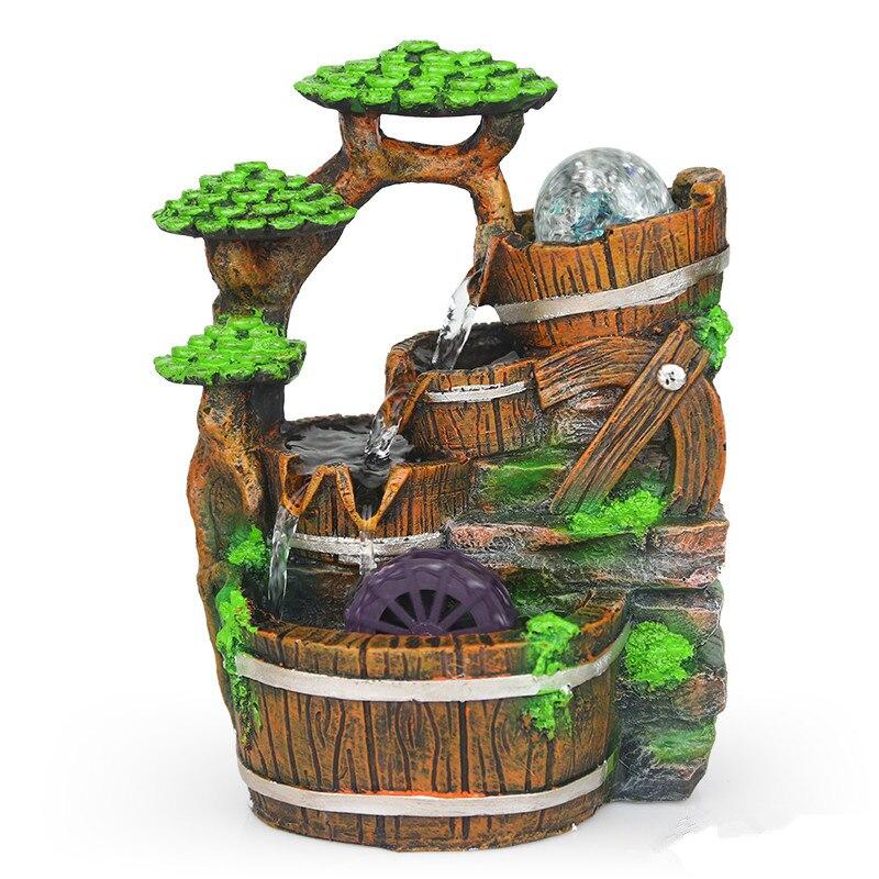 Características del agua de la bola Transhipped perro interior humidificador de bonsáis decoración de la resina de la fuente