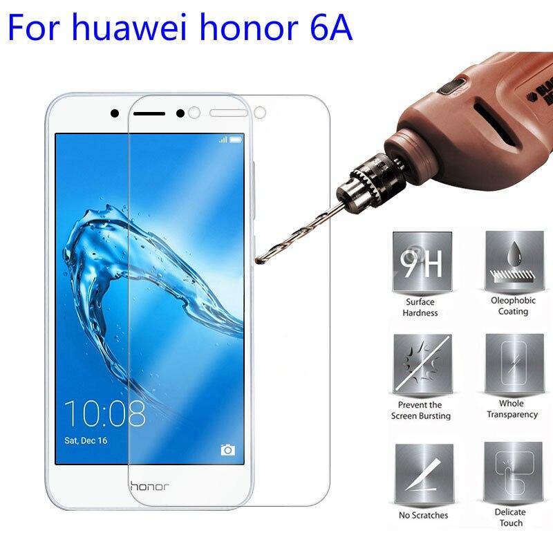 Vidrio templado para Huawei Honor 6A Protector de pantalla 9H 2.5D en película protectora de teléfono para Huawei Honor 6A 6 A película protectora