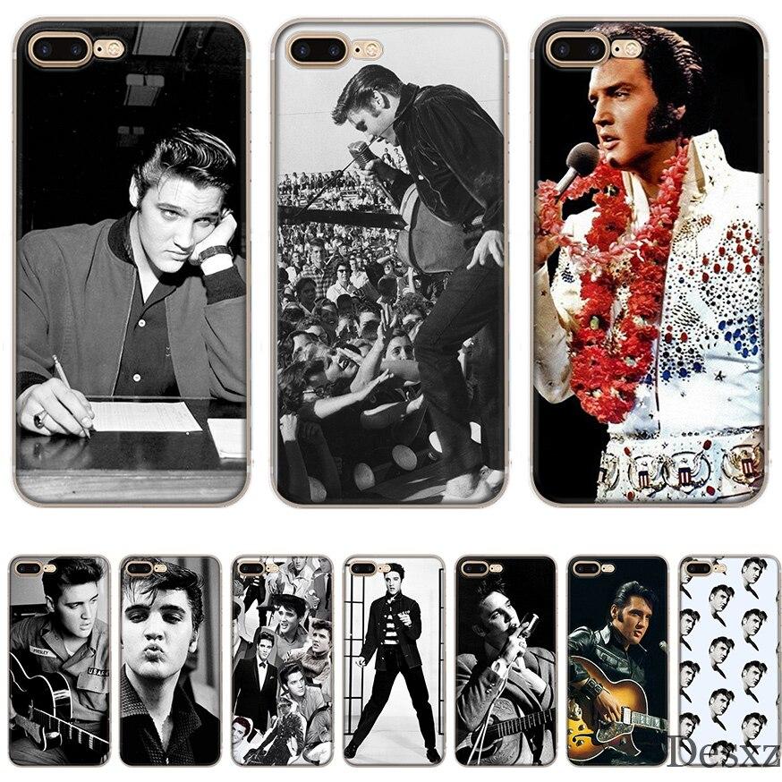Чехол для Телефона iPhone 7 8 6 6s Plus X XR XS Max 5 5S SE чехол Elvis Presley Kiss|Чехлы-накладки| |