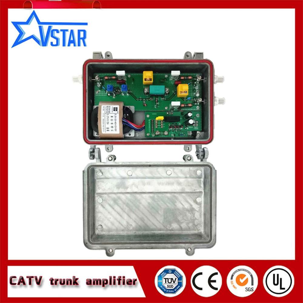 2 saídas catv amplificador de sinal, catv amplificador tronco exterior