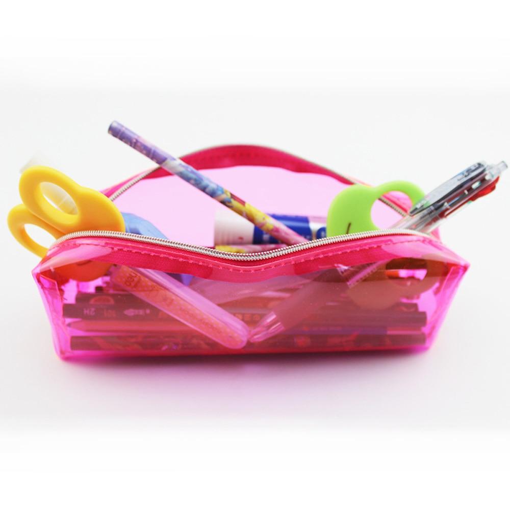 Bolsa de PVC impermeable, bolsa transparente de PVC para lápices, estuche de almacenamiento para playa, cosméticos, contenedor, bolsa de natación para mujer