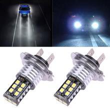 2x H7 Auto Led s pour voitures 15SMD CANBUS sans erreur 3535 LED voiture blanc antibrouillard