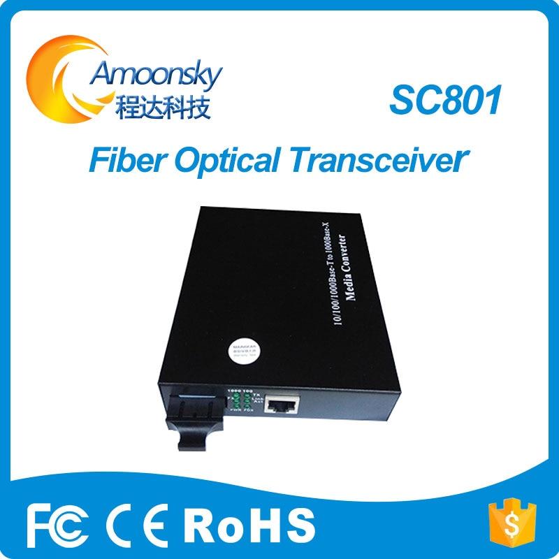 Led-bildschirm china display optical fiber converter linsn-sc801 single mode dual-core optical fiber als novastar cvt320 beste preis