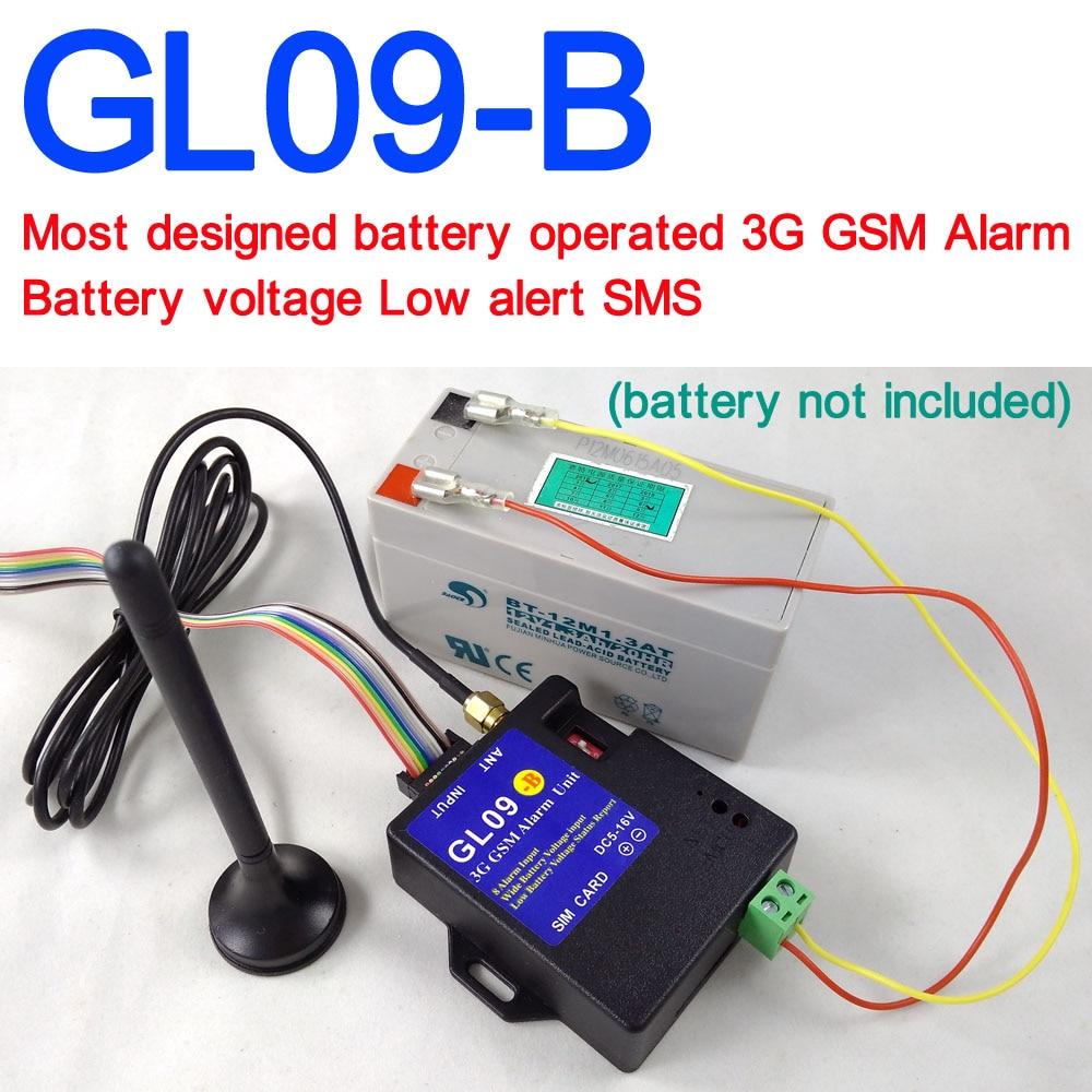 Беспроводная охранная сигнализация, 3G GSM, с питанием от батареи, GL09-B