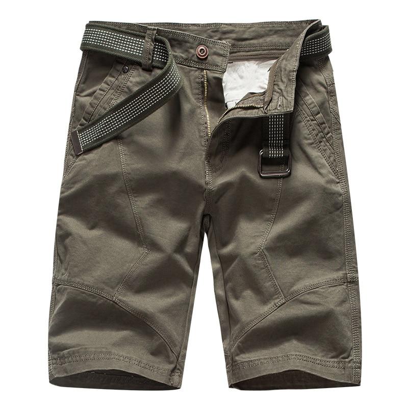 2020 été hommes Cargo Shorts marque vert armée militaire tactique Shorts hommes coton travail en vrac décontracté court pantalon pas de ceinture