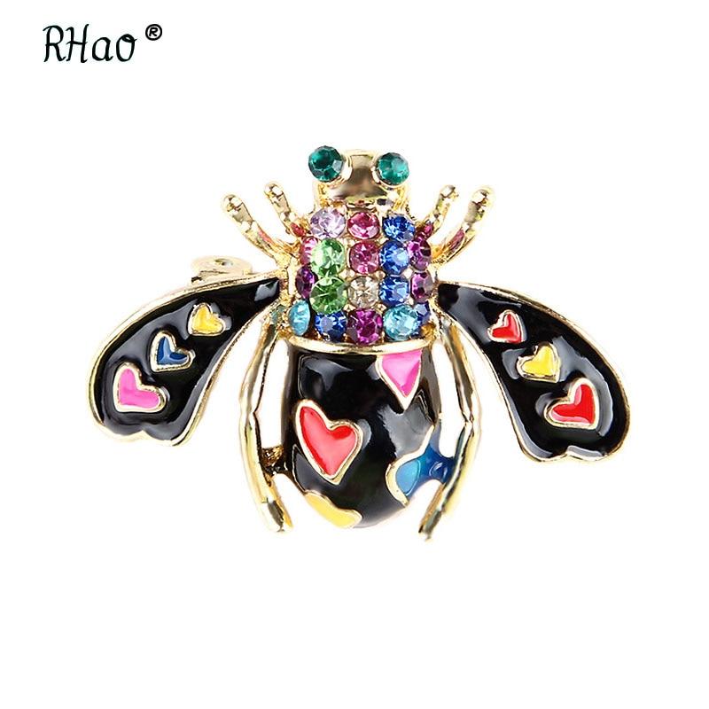Clásico de aleación de diamantes de imitación negro y púrpura Bee broches para hombres y mujeres es Insectos Vintage fiesta banquete broche regalos