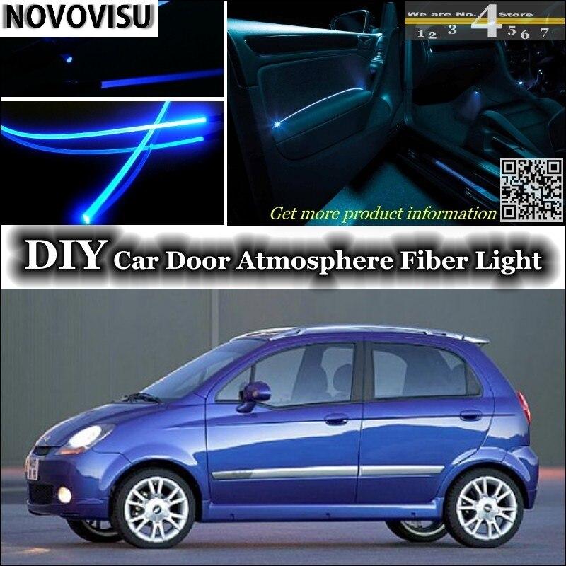 NOVOVISU para Pontiac G2 Matiz luz de ambiente interior Tuning atmósfera banda de fibra óptica luces iluminación de panel de puerta interior