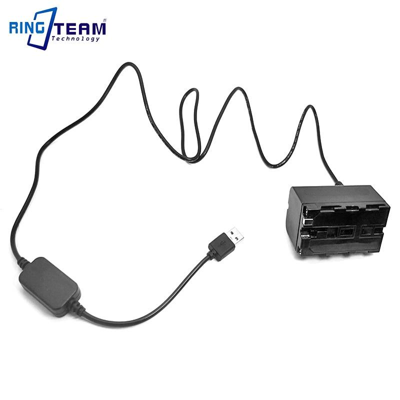 Usb-кабель питания постоянного тока 5 В + Аккумулятор для камеры Nanguan YongNuo Godox, светодиодный светильник для фотосъемки с NP-F750 и NP-F550