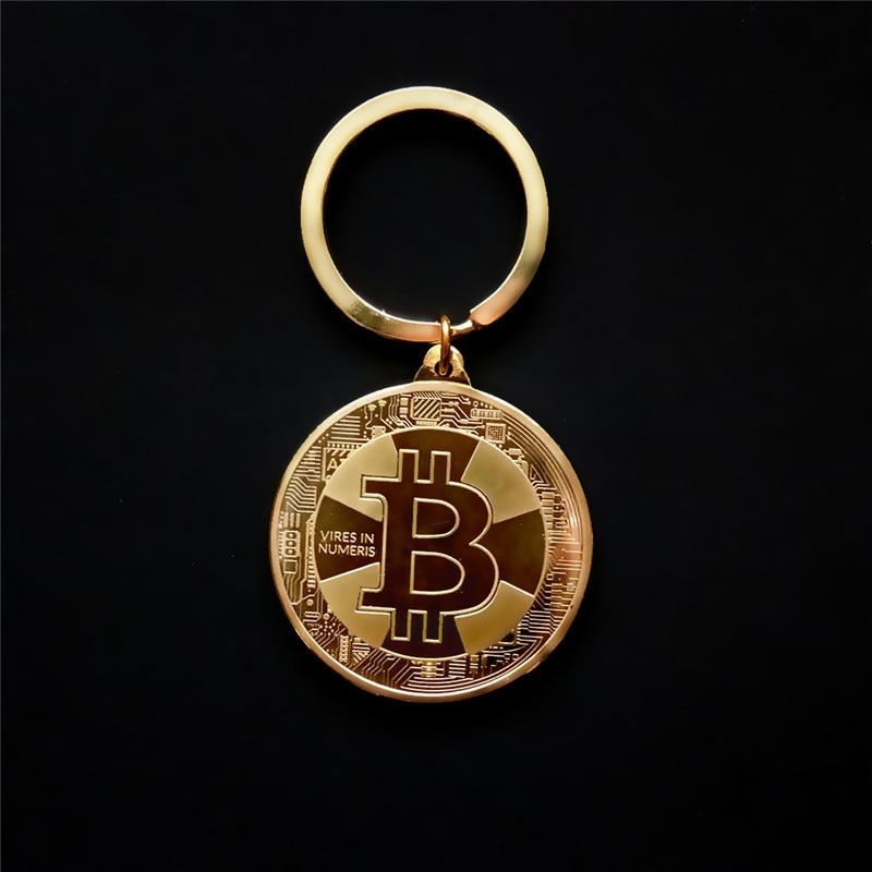 Хит продаж, Новое поступление, золотой, серебряный цвет, сплав, Биткойн-брелок, для женщин, мужчин, сумка для автомобиля, брелок, ювелирное изделие, подарок