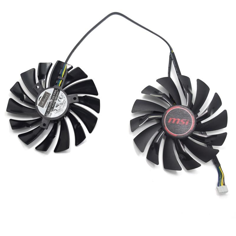 Nuevo 95mm PLD10010S12HH DC12V 4PIN GPU ventilador para MSI Radeon R9 380 armadura 2X R9 390X/R9 390 GAMING GTX 1060 ventilador de la tarjeta gráfica