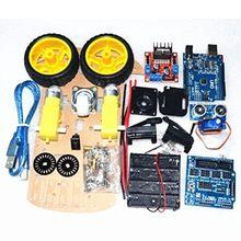Capteur de HC-SR04 ultrasons, moteur de suivi de voiture intelligent, châssis de voiture intelligent, Kit 2WD, pour Arduino, bricolage
