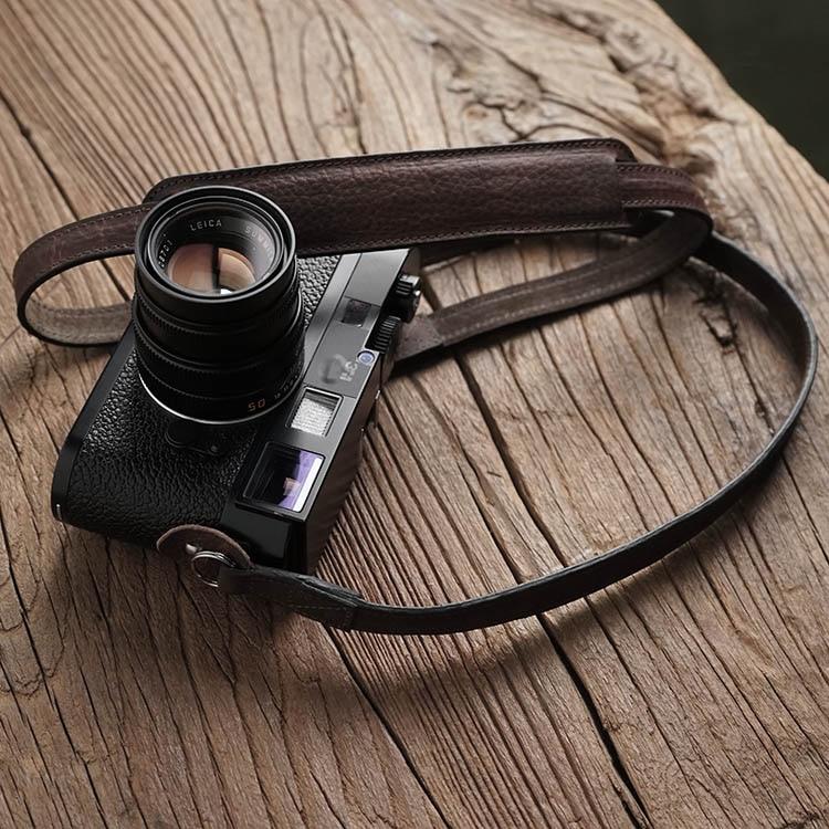 Mr.stone اليدوية جلد طبيعي شريط كاميرا كاميرا الكتف حزام حبل (دعم الكتف)