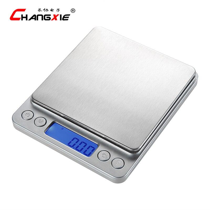 500g/0,01g Digitale Präzision Küche Waage Mit LCD Display Elektronische Waage Balance Kochen Bascula Cocina Mini Schmuck skala