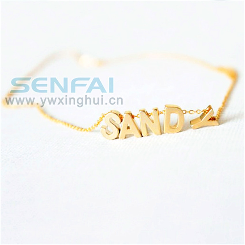 Collar personalizado mayúscula letras solo Colgante para Nombre monograma iniciales collares damas de honor Regalo boda joyería