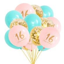 18 cumpleaños Balon fiesta globo de color macarrón 16 años confeti globo de aire globos de cumpleaños decoraciones para adultos para 18 cumpleaños globo