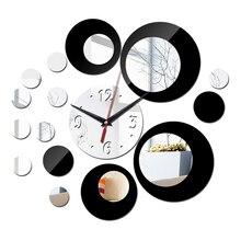 Horloge géométrique à aiguille pour salon   Nouvelle collection acrylique, autocollants muraux, bricolage, miroir, horloge géométrique quartz, design moderne