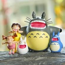 Shout Totoro Set Miniature Fairy Garden Home Houses Decoration Mini Craft Micro Landscaping Decor DIY Accessories