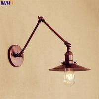 Antique Retro Wall Lights Fixtures Loft Style Industrial Wall Sconces Edison Long Arm Wall Lamp Vintage Lampen Applique Murale