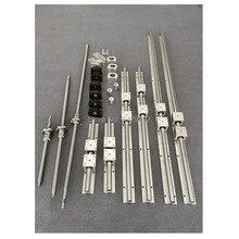 Sbr 20 Lineaire Geleiderail 6 Set SBR20-300/600/1000 Mm + Kogelomloopspil Set SFU1605- 350/650/1050 Mm + BK12 BF12 Cnc Onderdelen