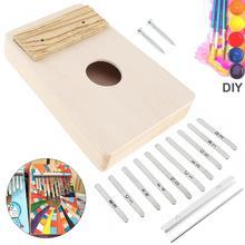 10 clés Kalimba Kit de bricolage tilleul bois pouce Piano Mbira pour travail manuel peinture Parents-enfant campagne