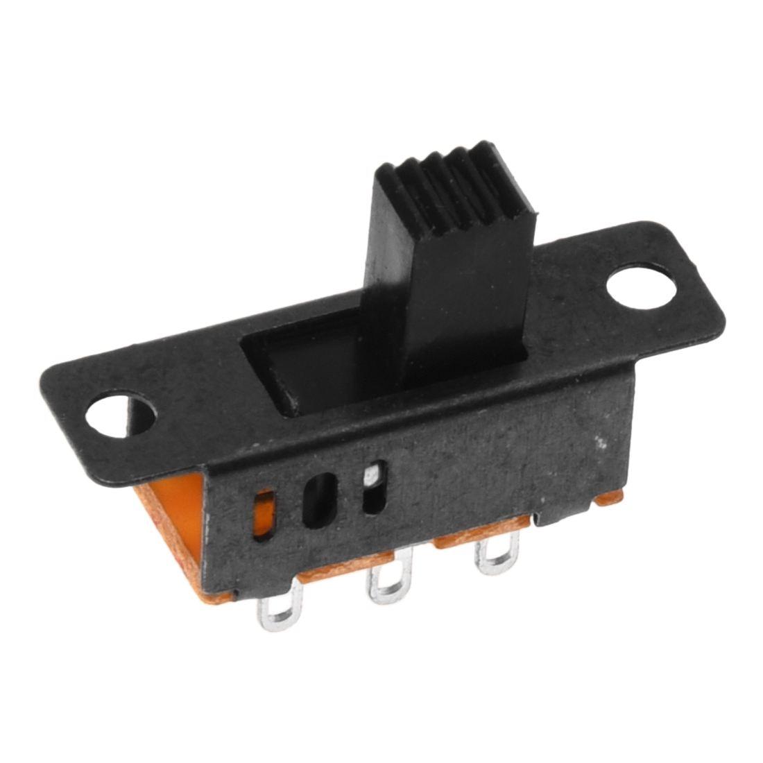 10 x DC 0.5A 50V 3 Position 2P2T DPDT Panel Mount Slide Switch SS23D32