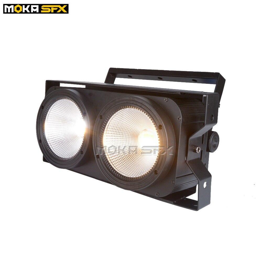 4pcs/lot 2x100W LED Cob Blinder Light DMX Stage Lighting Effect DMX 2 IN 1 Audience Blinder Lights Club DJ Disco Nightclub Show
