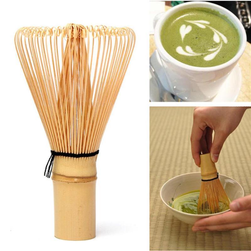 1 pc Venta caliente de bambú Matcha batidor de té verde Matcha cepillo de té Matcha japonés Ceremonia de polvo de té herramientas