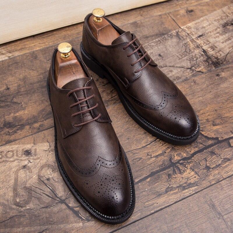 Misalwa plus tamanho 38-47 masculino brogue moda oxford vestido sapatos masculinos bem vestido cavalheiro artesanal calçado para homem moderno
