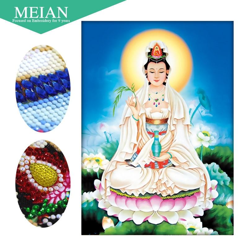 Meian, алмазная Вышивка специальной формы, богиня, женская, 5D, алмазная живопись, вышивка крестиком, 3D, Алмазная мозаика, украшения, Рождество