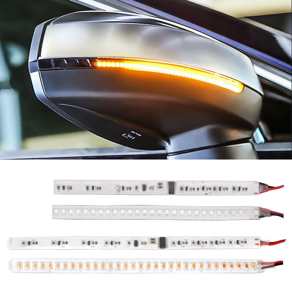 Bande de banderole de vue arrière, 1 paire de clignotant deau pour moto, lampe de clignotant fluide, bande de banderole modifiée pour voiture
