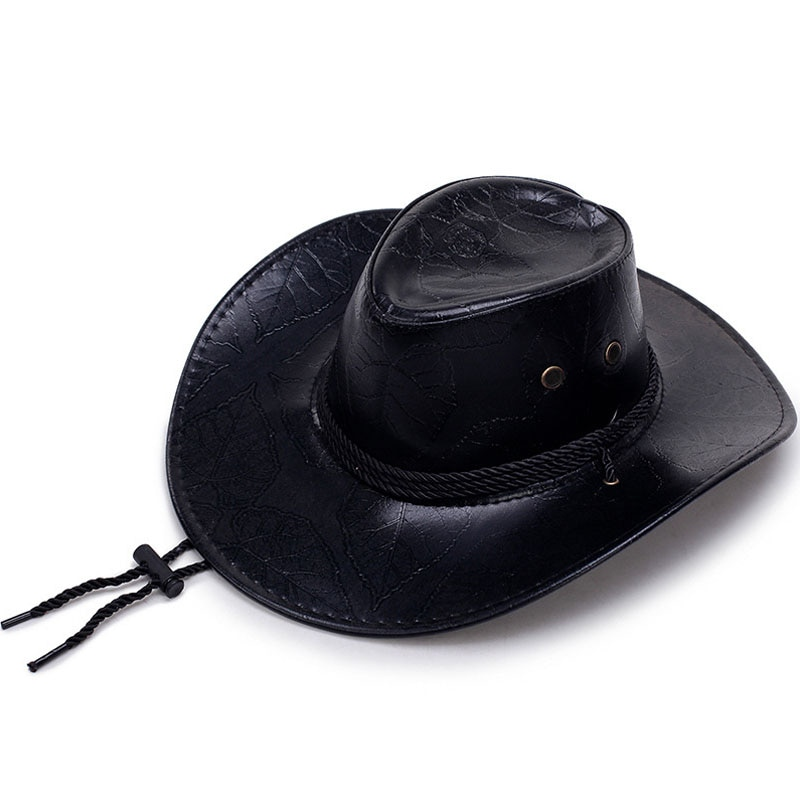 Western Cowboy Hats Travel Caps For Women Men's Caps Hats Leather knight hat Hats Sunscreen Felt Jazz Cap Bone Cowboys Cap Men