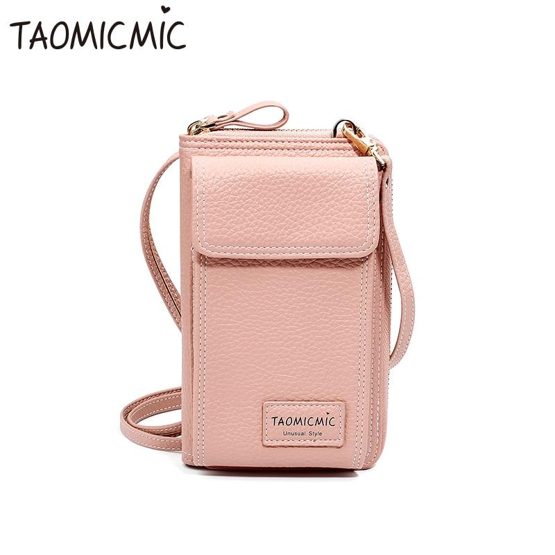 Bolsa de mujer bolsa para teléfono móvil de gran capacidad Cartera de móvil femenina con cremallera bolso de hombro tipo bandolera bolsa de teléfono monedero Ms