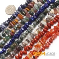 6x8mm natural assorted stones freeform beads for jewelry making strand 15 diy loose beads for bracelet necklace jewelry making