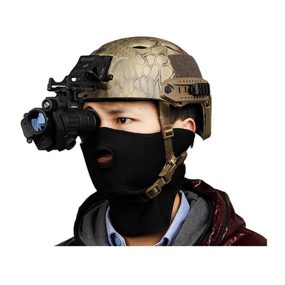 PVS-14 táctico de visión nocturna, dispositivo de alcance infrarrojo, telescopio Monocular Digital, piezas de casco táctico para caza nocturna