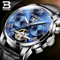 Switzerland BINGER High Quality Sport Watch Waterproof Automatic Watch Men Calendar Luminous Mechanical Watches Relogio Masculin