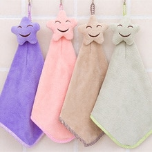 Yeni moda bebek el havlusu sevimli gülümseme asılı çocuk banyo havlusu çocuk banyo mercan polar kalınlaşma yenidoğan Wisp havlu