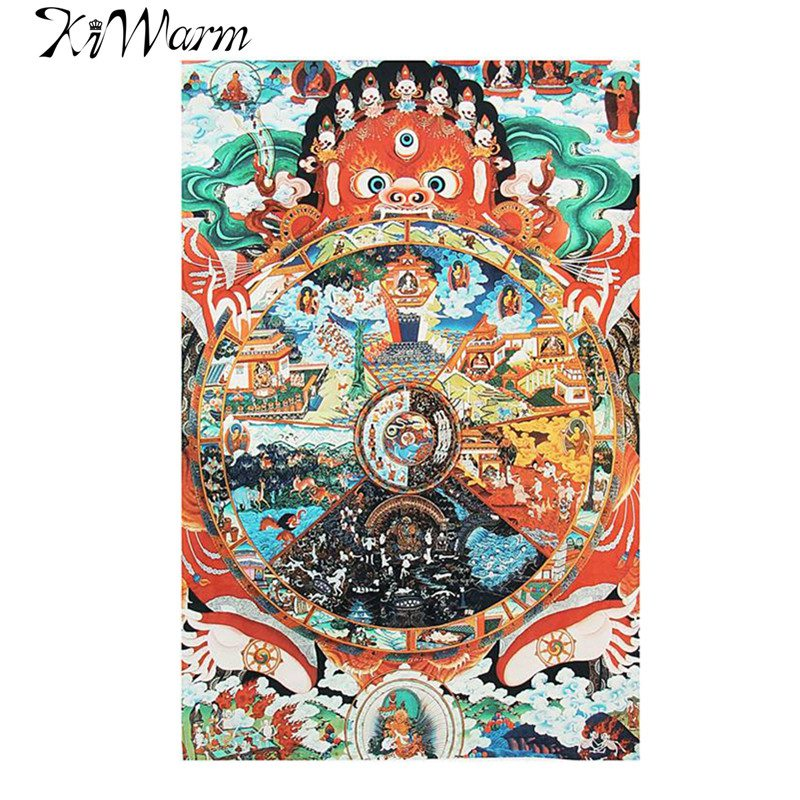Tela de bordado de seda tibetana Samsara Amitabha Buddha Thangka Thanka Budista Tibetano pintura decorativa regalo