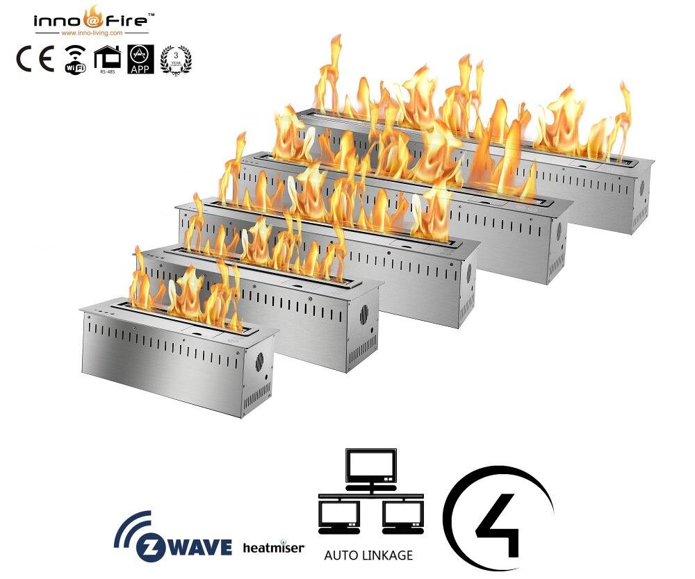 Chimenea de etanol con wifi inno-living fire de 36 pulgadas, chimenea eléctrica