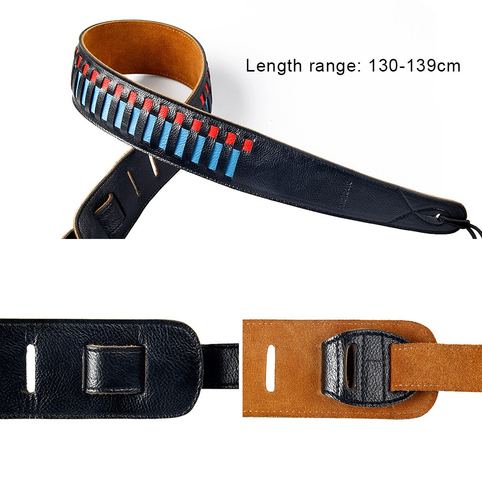 High quality guitar strap Braided strap guitar straps for electric acoustic bass guitar belts guitar accessories enlarge