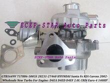 Turbocompresseur GTB1649V 757886-757886 S 5005-757886 0005-28231 pour HYUNDAI Santa Fe 27460-KIA Carens 02- D4EA D4ED