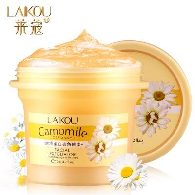 LAIKOU Deep Cleansing Facial Gel Scrub/go Cutin Face Exfoliating Cream Natural Orgonic Germany Camomile Extract Bodyexfoliating недорого