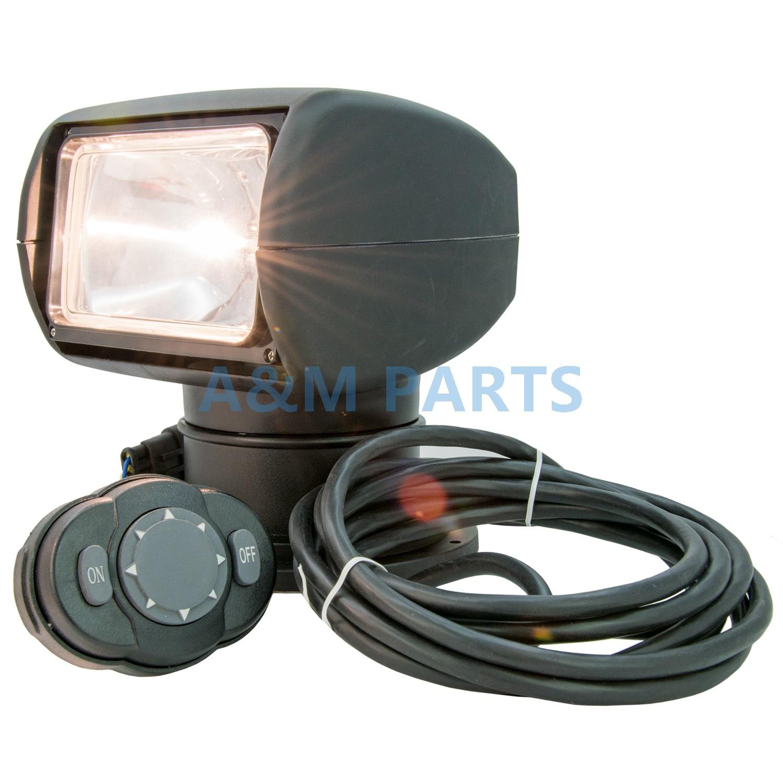Черный автомобиль грузовика, МОРСКОЙ лодочный прожектор с дистанционным управлением, прожекторная лампа 24 в 100 Вт