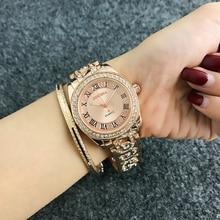 CONTENA Luxury Bracelet Watch Women Watches Rhinestone Fashion Rose Gold Womens Watches Clock Reloj Mujer Relogio Feminino