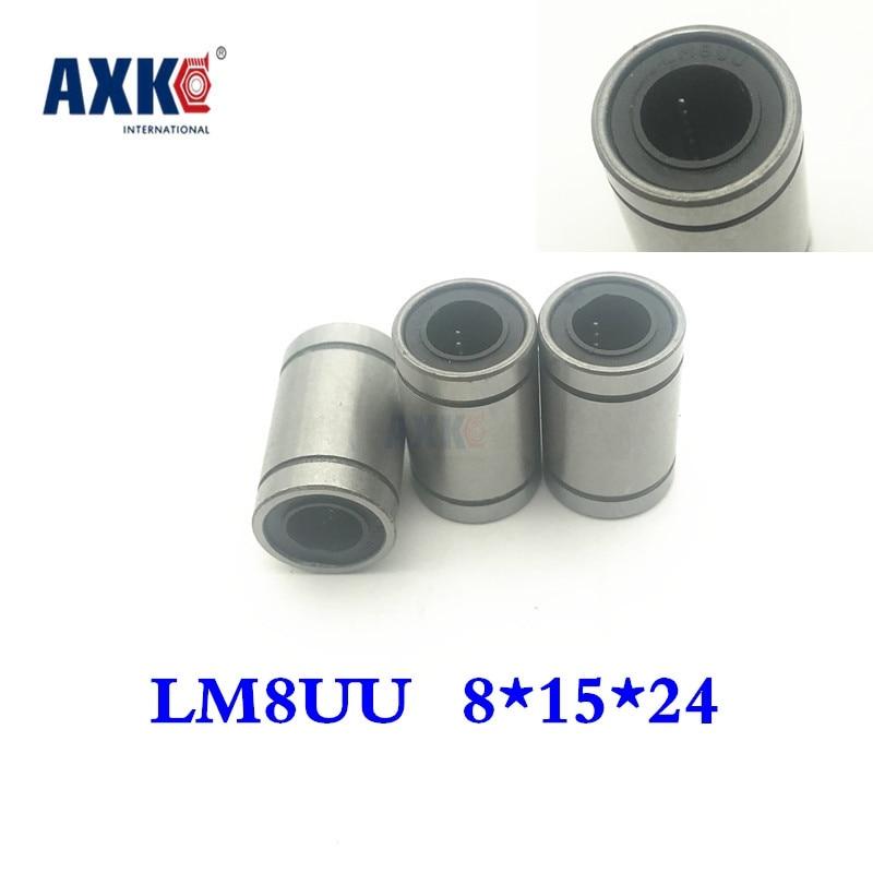 Бесплатная доставка! 12 шт./лот LM8UU 8 мм линейный шариковый подшипник линейный подшипник 8 мм части 3d принтера LM8 части cnc