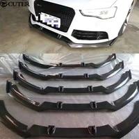 a6 rs6 carbon fiber car body kits front bumper front lip for audi a6 rs6 car body kit 13 16