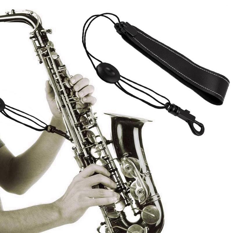 IRIN Leather Adjustable Saxophone Neck Strap Black Portable Alto Saxophone Soprano Strap Belt Woodwind Instruments Accessories